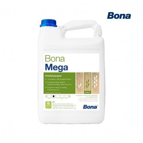 5ltr: Bona - Mega - ExtraMatt - 1K Water Based Lacquer