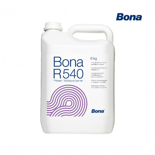 6kg: Bona - R540 - Primer Moisture Barrier - 1K Polyurethane for absorbent and non-absorbent substrates up to 80%RH - 4% Moisture Content