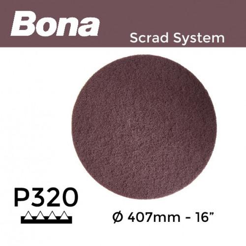 """P320 - Bona - Scrad Pad - Maroon - 407mm - 16"""""""