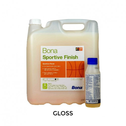 10ltr: Bona - Sportive - 2K Water Based Sports Lacquer - Gloss