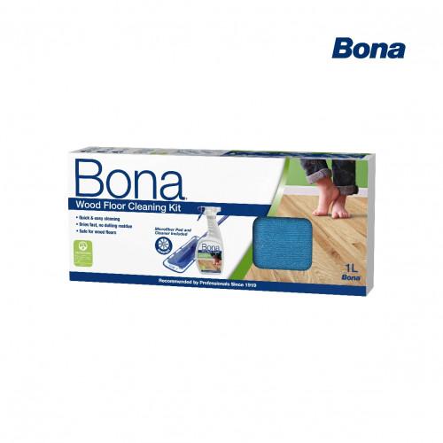 Bona - Wood Floor Cleaning Kit - Contains: Bona Mop & Spray Bottle