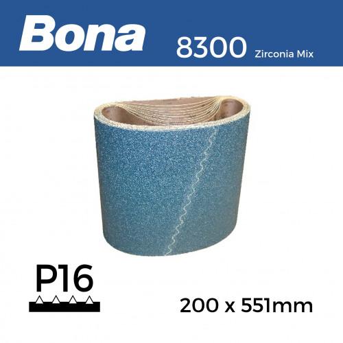 "P16 - Bona - Zirconia Mix - Anti Static - Sanding Belt - 200x551mm - 8"""