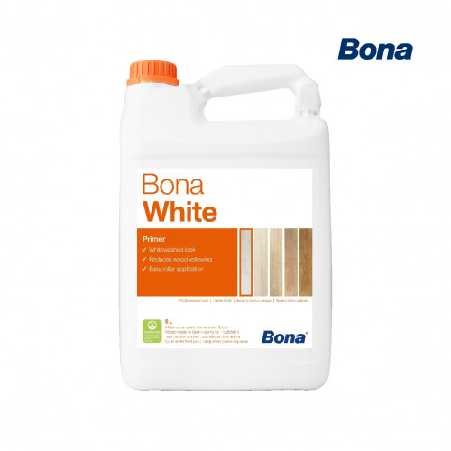 5ltr: Bona - White Primer - 1K Tinted Water Based Polyurethane/Acrylate Primer
