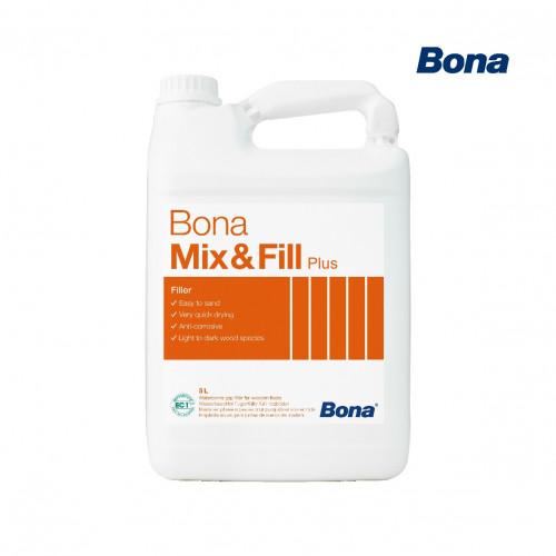 5ltr: Bona - Mix & Fill Plus - 1K Water Based Filler For Gaps up to 3mm