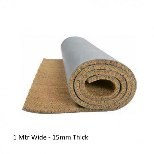 1m²: 15mm Coir Matting - Natural - (15mm Thick x 1m Wide)