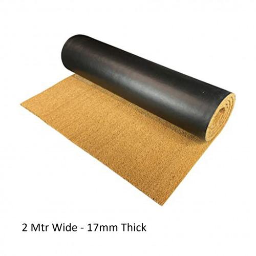1m²: Coir Matting - Natural - 17mm - (12m x 2m Roll Size)