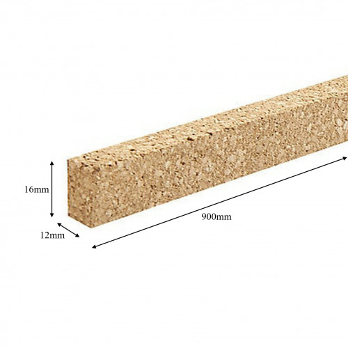1 x Length: Cork Expansion Strip 16 x 12 x 900mm