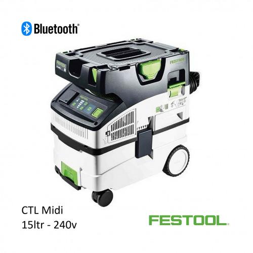 Festool - CTL MIDI - 15ltr Vacuum with Bluetooth - 240v