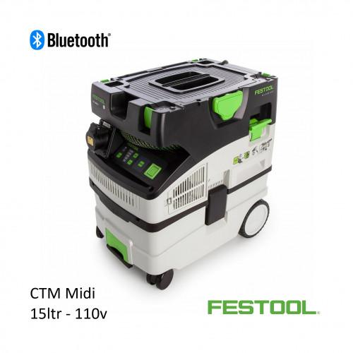 Festool - CTM MIDI - 15ltr Vacuum with Bluetooth - 110v
