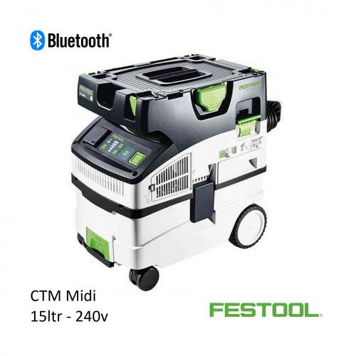 Festool - CTM MIDI - 15ltr Vacuum with Bluetooth - 240v