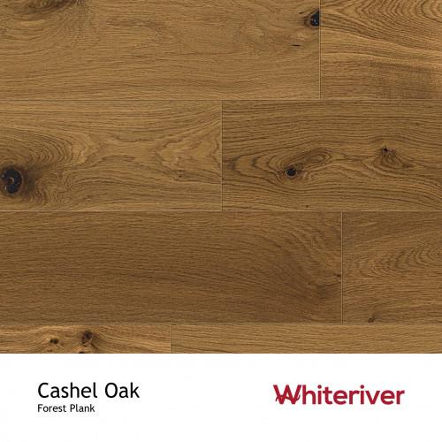 1m²: 14mm - Whiteriver - Forest - Cashel Oak - Universal Grade - Engineered - T&G Plank Flooring -Smoked, Heavy Brushed & Matt Lacquered - Micro Bevel 4 Sides - 14/3x180x1900mm - (2.268m²pk)