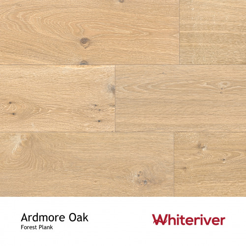 1m²: 14mm - Whiteriver - Forest - Ardmore Oak - Universal Grade - Engineered - T&G Plank Flooring - Smoked, Planed & White UV Oiled - Micro Bevel 4 Sides - 14/3x190x1900mm - (2.166m²pk)