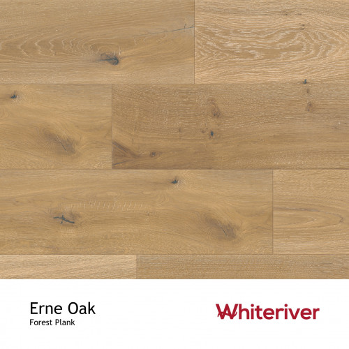 1m²: 14mm - Whiteriver - Forest - Erne Oak - Universal Grade - Engineered - T&G Plank Flooring - Smoked, Handscraped, Distressed, Brushed & White UV Oiled - Micro Bevel 4 Sides - 14/3x190x190