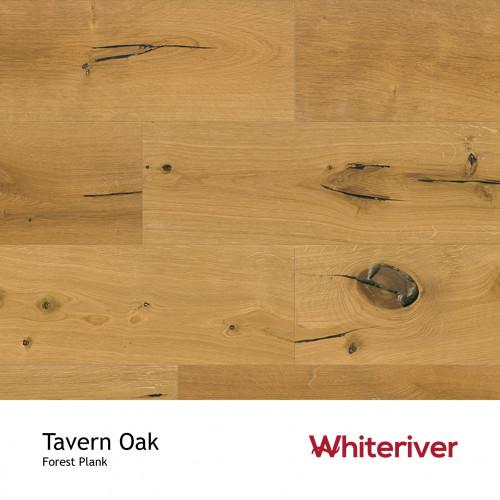 1m²: 14mm - Whiteriver - Forest - Tavern Oak - Vintage Grade European Oak - Engineered - T&G Plank Flooring - Smooth Sanded, Old Style Knots Cracks & Sunken Filler - UV Oiled - Micro Bevel 4