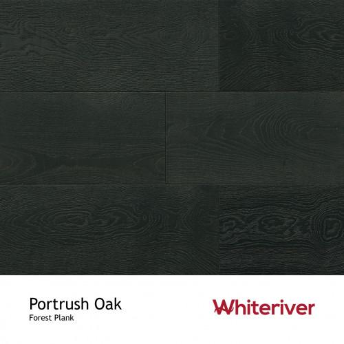 1m²: 14mm - Whiteriver - Forest - Portrush Oak - Nature Grade European Oak - Engineered - T&G Plank Flooring - Special Treatment, Medium Brushed & Black UV Oiled - Micro Bevel 4 Sides - 14/3x