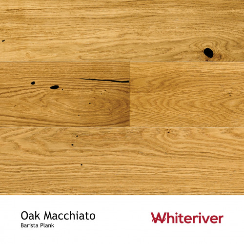 1m²: 14mm - Whiteriver - Barista - Oak Macchiato - Rustic Character Grade - Brushed & Matt Lacquered - FSC - 5G Click Plank Flooring - V2 Micro Bevel 2 Sides - 14/3x207x2200mm - (3.18m²/pk)