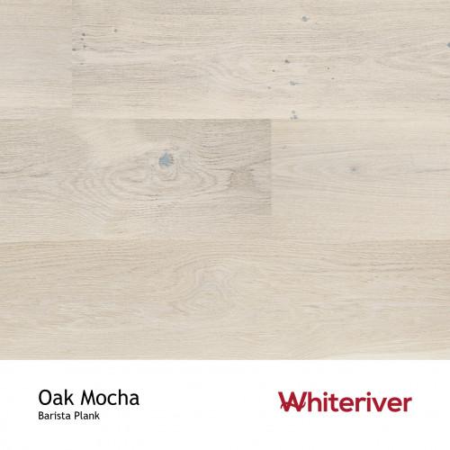 1m²: 14mm - Whiteriver - Barista - Oak Mocha - Nature Grade - Cream Double Stained, Brushed & Matt Lacquered - FSC - 5G Clic Plank Flooring - 14/3x207x2200mm - (3.18m²/pk)