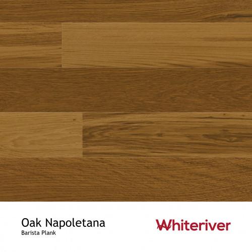 1m²: 14mm - Whiteriver - Barista - Napoletana Oak - Nature Grade - Brown Stained, Brushed & Matt Lacquered - FSC - 5G Clic Plank Flooring - 14/3x180x2200mm - (2.77m²/pk)