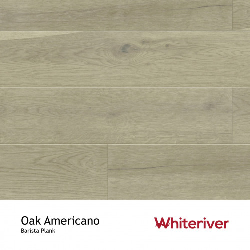 1m²: 14mm - Whiteriver - Barista - Oak Americano - Rustic Character Grade - Smoked, Brown Stained, Brushed & Matt Lacquered - FSC - 5G Click Plank Flooring - V2 Micro Bevel 2 Sides - 14/3x180
