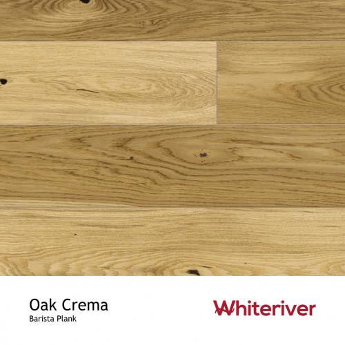 1m²: 14mm - Whiteriver - Barista - Oak Crema - Rustic Nature Grade - Brushed & Matt Lacquered - FSC - 5G Click Plank Flooring - V4 Micro Bevel 4 Sides - 14/3x180x2200mm - (2.77m²/pk)