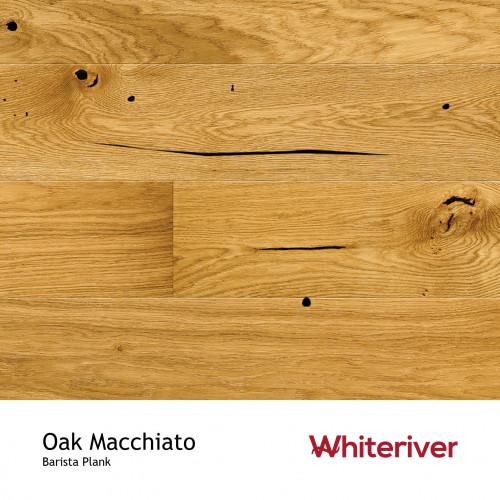 1m²: 14mm - Whiteriver - Barista - Oak Macchiato - Rustic Character Grade - Brushed & Matt Lacquered - FSC - 5G Click Plank Flooring - V4 Micro Bevel 4 Sides - 14/3x180x2200mm - (2.77m²/pk)