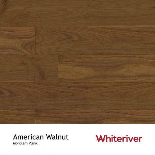 1m²: 18mm - Whiteriver - Monolam - American Walnut - Universal Grade - Engineered - T&G Plank Flooring - Lacquered - Micro Bevel 4 Sides - 18/4x127x400-1700mm - (2.2352m²/pk)