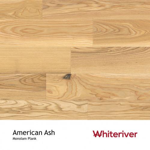 1m²: 18mm - Whiteriver - Monolam - American Ash - Universal Grade - Engineered - T&G Plank Flooring - Lacquered - Micro Bevel 4 Sides - 18/4x127x400-1700mm - (2.2352m²/pk)