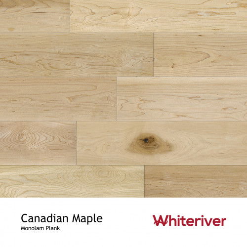 1m²: 18mm - Whiteriver - Monolam - Canadian Maple - Universal Grade - Engineered - T&G Plank Flooring - Lacquered - Micro Bevel 4 Sides - 18/4x127x400-1700mm - (2.2352m²/pk)