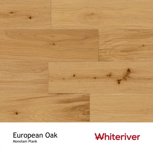 1m²: 18mm - Whiteriver - Monolam - European Oak - Lacquered - 18/3.3x150xRLmm - (1.98m²pk)