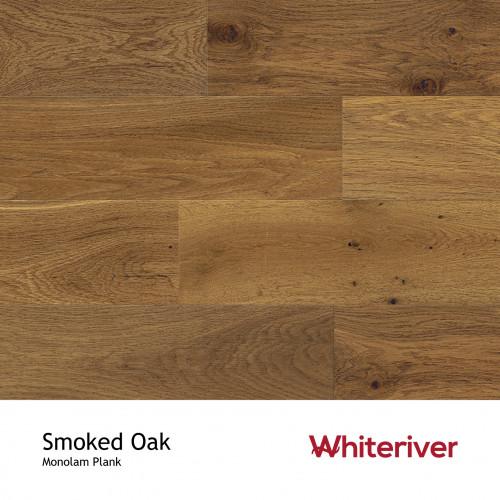 1m²: 18mm - Whiteriver - Monolam - Smoked Oak - Universal Grade - European Oak - Engineered - T&G Plank Flooring - Smoked, Brushed & Matt Lacquered - Micro Bevel 4 Sides - 18/4x400-1800mm - (