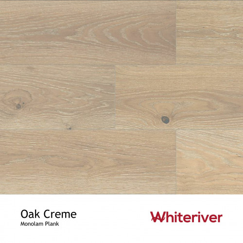 1m²: 18mm - Whiteriver - Monolam - Oak Creme - European Oak - Universal Grade - Engineered - T&G Plank Flooring - Limewashed, Brushed & Matt Lacquered - 18/4x150x400-1800mm - (1.98m²/pk)