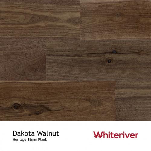 1m²: 18mm - Whiteriver - Heritage - Dakota Walnut - Universal Grade - Engineered - T&G Plank Flooring - Lacquered - Micro Bevel 4 Sides - 18/4x189x1860mm - (1.76m²/pk)