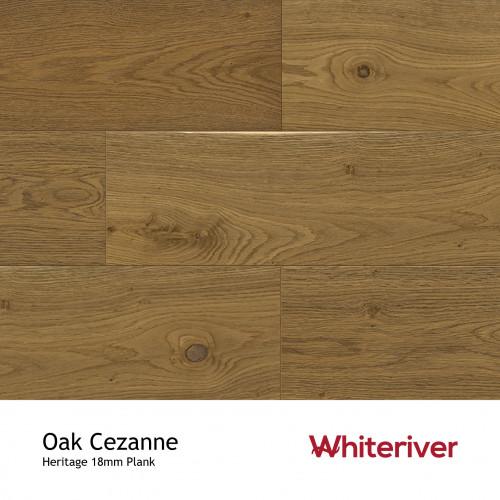 1m²: 18mm - Whiteriver - Heritage - Oak Cezanne - Universal Grade - Engineered - T&G Plank Flooring - Smoked, Heavy Brushed & Matt Lacquered - Micro Bevel 4 Sides - 18/4x190x1900mm - (2.166m²