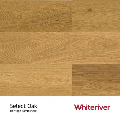 1m²: 18mm - Whiteriver - Heritage - Select Oak - Select / Prime Grade - Engineered - T&G Plank Flooring - Matt Lacquered - Micro Bevel 4 Sides - 18/4x190x1900mm - (2.166m²/pk)