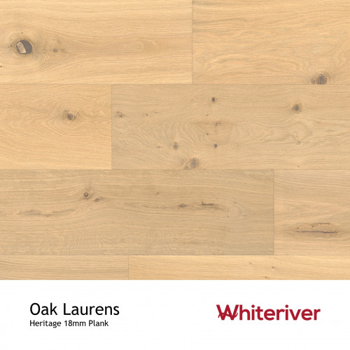 1m²: 18mm - Whiteriver - Heritage - Laurens Oak - Universal Grade - Engineered - T&G Plank Floring - Smooth, Smoked & Extra White UV Oiled - Micro Bevel 4 Sides - 18/4x190x1900mm - (2.166m²/p