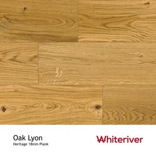 1m²: 18mm - Whiteriver - Heritage - Oak Lyon - Universal Grade - Engineered - T&G Plank Flooring - Matt Lacquered - Micro Bevel 4 Sides - 18/4x190x1900mm - (2.166m²/pk)