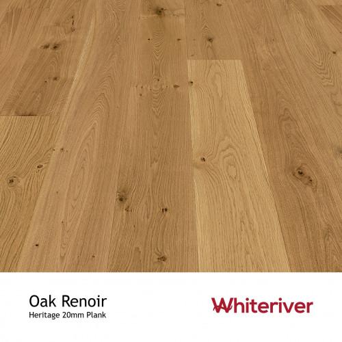1m²: 20mm - Whiteriver - Heritage - Oak Renoir - Universal Grade - European Oak - Engineered - T&G Plank Flooring - Heavy Brushed & Matt Lacquered - Micro Bevel 4 Sides - 20/6x189x2200mm - (2