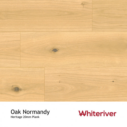 1m²: 20mm - Whiteriver - Heritage - Oak Normandy - Universal Grade - Engineered - T&G Plank Flooring - Invisible Oiled & UV Matt Lacquered - Micro Bevel 4 Sides - 20/6x189x2200mm - (2.08m²/pk