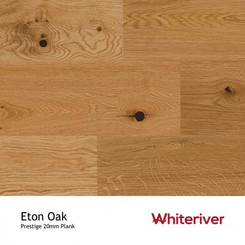 1m²: 20mm - Whiteriver - Prestige - Eton Oak - European Oak - Universal Grade - Engineered - T&G Plank Flooring - Heavy Brushed & Matt Lacquered - 20/6x220x2200mm - (1.936m²/pk)