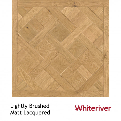1m²: 18mm - Whiteriver - Versailles Panels - European Oak - Rustic A / Nature Grade -  Light Brushed & Matt Lacquered - 18/4x900x900mm - (1.62m²pk)