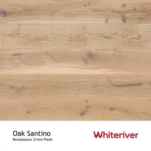 1m²: 21mm - Whiteriver - Renaissance - Oak Santino - European Oak - Rustic Character Grade - Engineered - T&G Plank Flooring - Special Stain & White UV Oil/Wax - Bevelled 2 Sides - 21/6x260x1