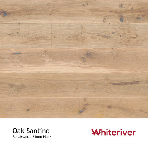 1m²: 21mm - Whiteriver - Renaissance - Oak Santino - European Oak - Rustic Character Grade - Engineered - T&G Plank Flooring - Special Stain & White UV Oil/Wax - Bevelled 2 Sides - 21/6x260x2
