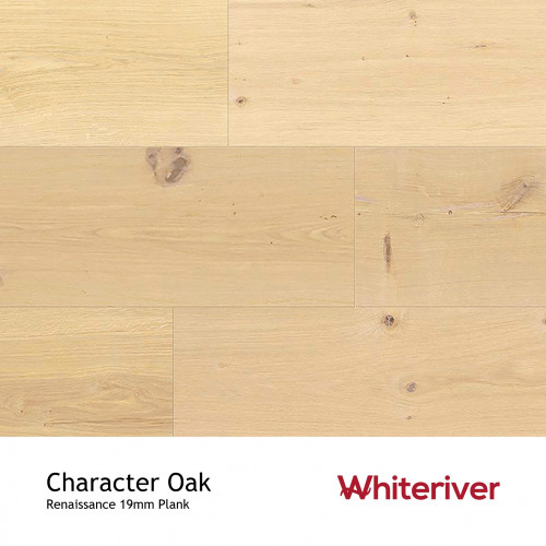 1m²: 19mm - Whiteriver - Renaissance Plank Collection - Character Oak - European Oak - Rustic Character Grade - Engineered - T&G Plank Flooring - Sanded, Filled & Unfinished - Micro Bevel 4 S