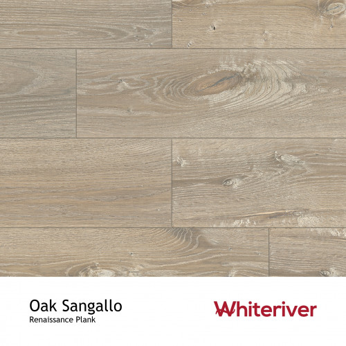 1m²: 13mm - Whiteriver - Renaissance Plank Collection - Oak Sangallo - Rustic Character Grade - Engineered - T&G Plank Flooring - Smoked, Planed & Extra White UV Oiled - 13/4x260x2400mm - (3.