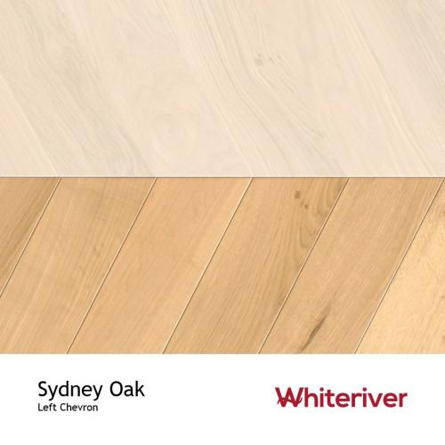 1m²: 18mm - Whiteriver - Chevron Panel - Sydney Oak - Rustic A / Nature Grade - European Oak - Engineered - Drop Lock Chevron Panel Flooring - Smoked, Extra White UV Oil / Wax - Micro Bevel 4