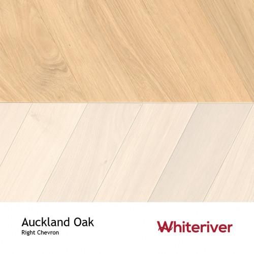 1m²: 18mm - Whiteriver - Chevron Panel - Auckland Oak - Rustic A / Nature Grade - European Oak - Engineered - Drop Lock Chevron Panel Flooring - Unfinished - Micro Bevel 4 Sides - 18/4x400x98