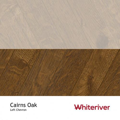 1m²: 18mm - Whiteriver - Chevron Panel - Cairns Oak - Rustic A / Nature Grade - European Oak - Engineered - Drop Lock Chevron Panel Flooring - Special Stain Black UV Oil/Wax - Micro Bevel 4 S