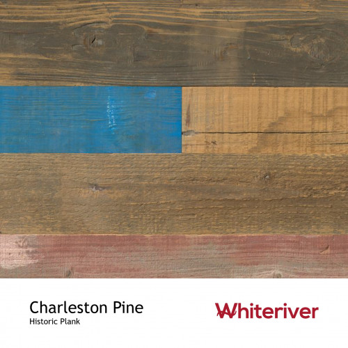 1m²: 15mm - Whiteriver - Historic Plank - Charleston Pine - Reclaimed - Engineered - T&G Plank Flooring - Unfinished - FSC Certified Plywood Base - 15/4x70-230x400-2200mm