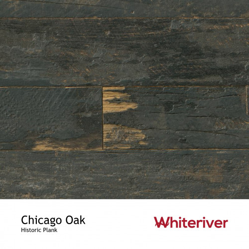 1m²: 15mm - Whiteriver - Historic Plank - Chicago Oak - Reclaimed - Engineered - T&G Plank Flooring - Unfinished - FSC Certified Plywood Base - 15/4 x 95-135 x 400-2200mm
