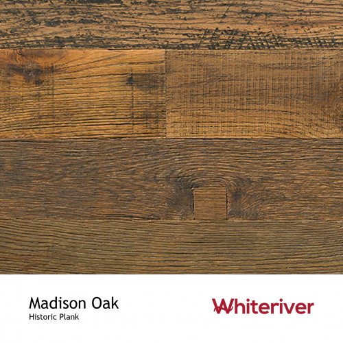 1m²: 15mm - Whiteriver - Historic Plank - Madison Oak - Reclaimed - Engineered - T&G Plank Flooring -  Oiled - FSC Certified Plywood Base - 15/4x95-135x400-2200mm